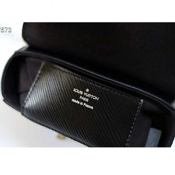 Louis Vuitton Lv Women Twist Belt Chain Wallet Black Epi Leather Lulux