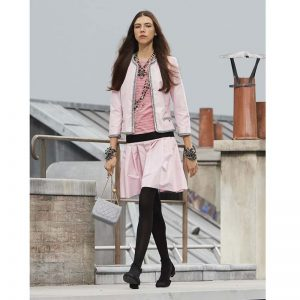 Chanel Women Jacket Silk Taffeta Pale Pink