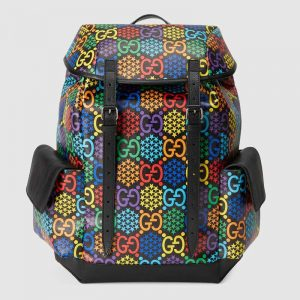 Gucci GG Unisex Medium GG Psychedelic Backpack Psychedelic Supreme Canvas