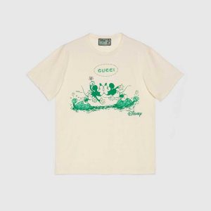 Gucci GG Women Disney x Gucci T-Shirt White Cotton Jersey