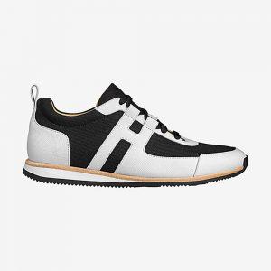 Hermes Men Partner Sneaker Shoes Black