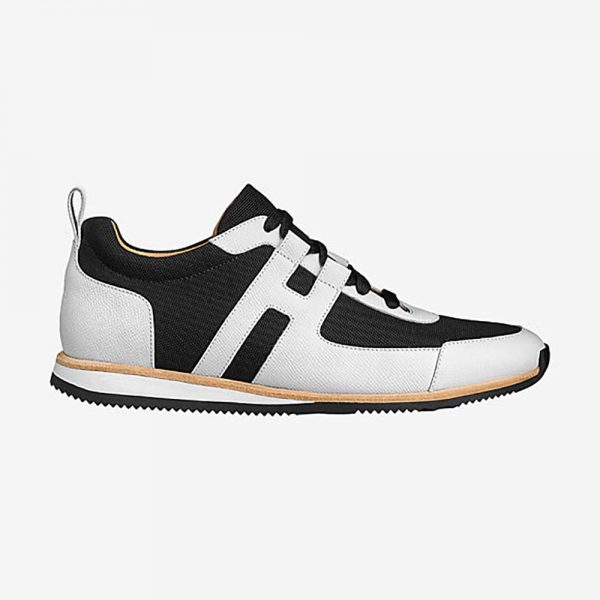 Hermes Men Partner Sneaker Shoes Black