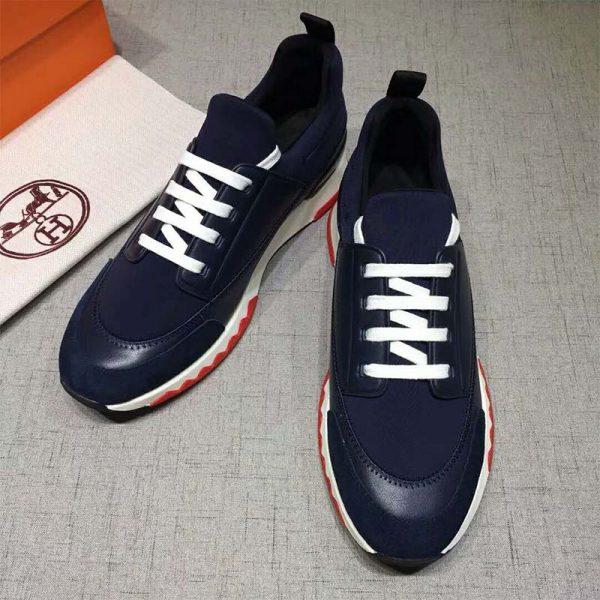 Hermes Men Shoes Stadium Sneaker-Blue