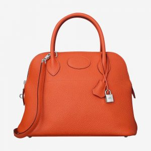 Hermes Women Bolide 31 Bag in Taurillon Clemence Leather-Orange