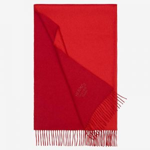 Hermes Women Double Face Stole-Red