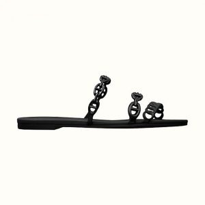 Hermes Women Rivage Sandal Summer TPU Sole-Black
