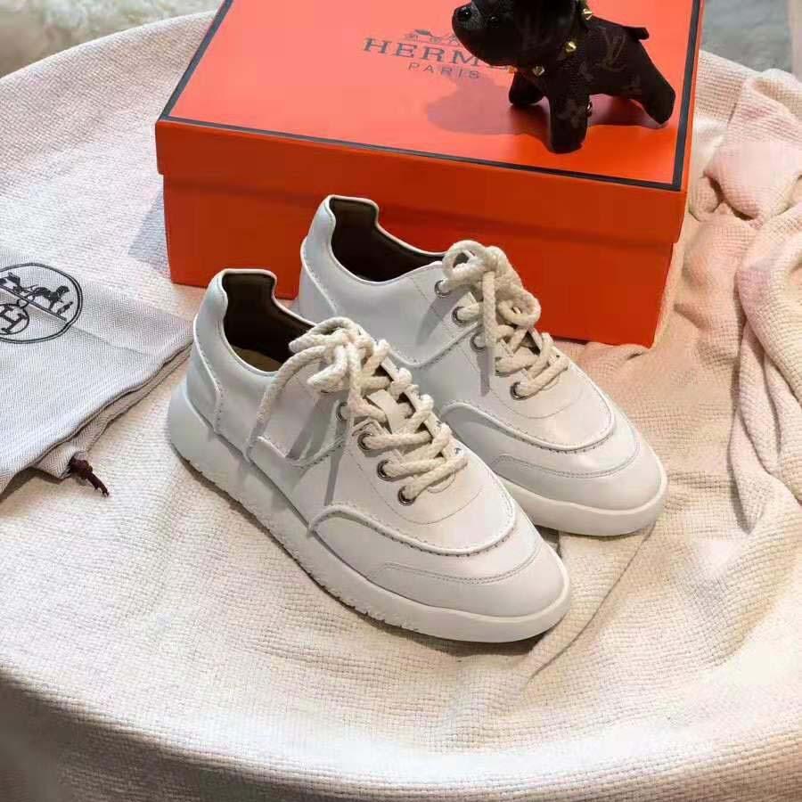 Hermes Women Turn Sneaker in Calfskin