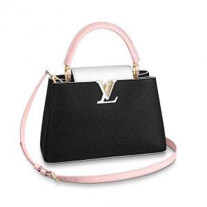 Louis Vuitton LV Women Capucines PM Handbag Taurillon Leather-Black