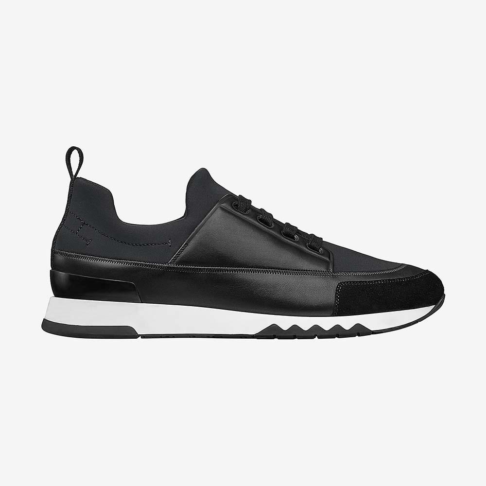 Hermes Men Shoes Stadium Sneaker-Black