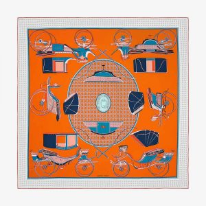 Hermes Women Les Voitures A Transformation Scarf 90