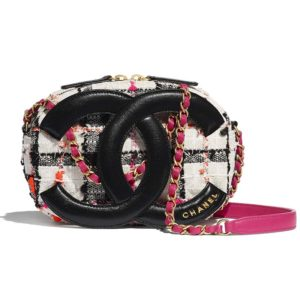 Chanel Women Camera Case Tweed Lambskin & Gold-Tone Metal-Black
