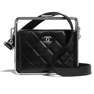 Chanel Women Clutch Lambskin & Silver-Tone Metal-Black
