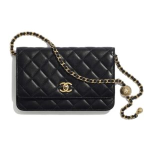 Chanel Women Classic Wallet On Chain in Lambskin-Black
