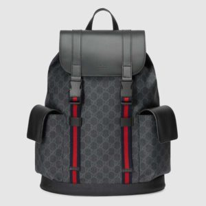 Gucci GG Unisex GG Black backpack Soft GG Supreme Canvas