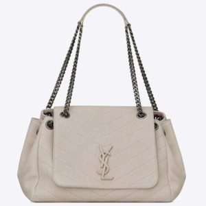 Saint Laurent YSL Women Nolita Medium Bag Vintage Leather-White