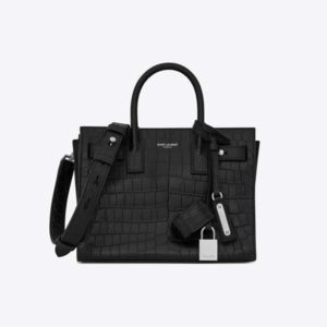 Saint Laurent YSL Women Sac De Jour Nano Crocodile-Embossed