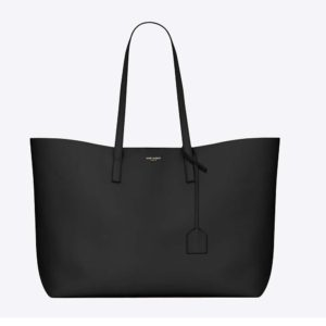 Saint Laurent YSL Women Shopping Saint Laurent Tote Black Leather