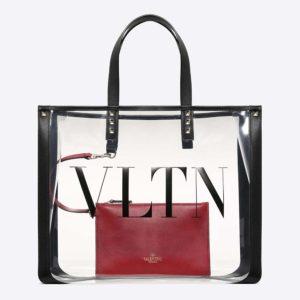 Valentino Women Small VLTN Plexy Shopping Bag