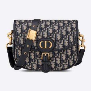 Dior Unisex Medium Dior Bobby Bag Blue Dior Oblique Jacquard