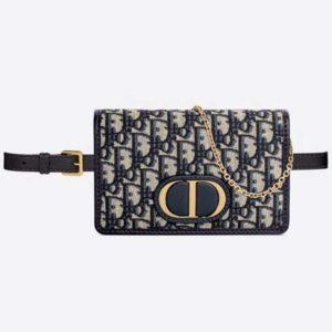 Dior Women 30 Montaigne 2-in-1 Pouch Blue Dior Oblique Jacquard