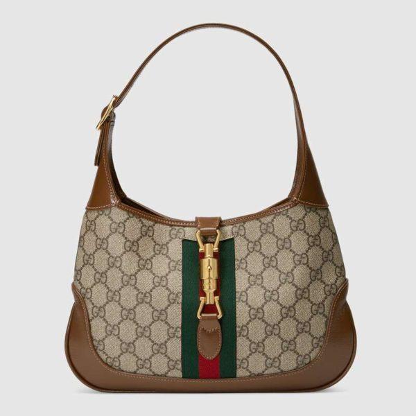 Gucci Women Jackie 1961 Small Hobo Bag GG Supreme Canvas