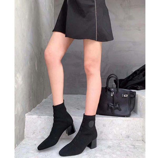 Hermes Women Volver 60 Ankle Boot Black
