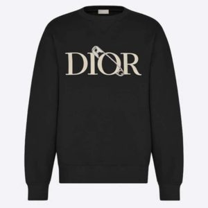 Dior Men Oversized Dior And Judy Blame Sweatshirt Cotton-Black