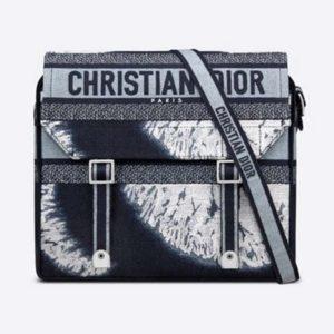 Dior Unisex Diorcamp Bag Blue Multicolor Tie & Dior Embroidery 'Christian Dior'