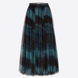 Dior Women Midi Skirt Black and Blue Tie & Dior Tulle
