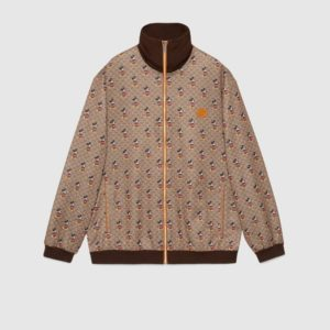 Gucci Men Disney x Gucci Oversize Jacket GG Mickey Mouse Technical Jersey