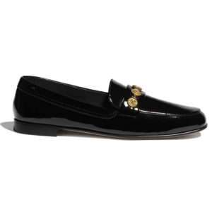 Chanel Women Loafers Patent Calfskin 1.5 cm Heel-Black