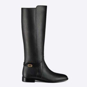 Dior Women Dior Empreinte Boot 'CD' Signature Black Soft Calfskin