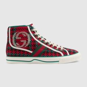 Gucci GG Unisex Gucci Tennis 1977 High-Top Sneaker Interlocking G 2 cm Heel